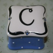 Scalloped Initial Box