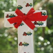 Holly and Berries Cross