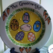 Family Easter Plate
