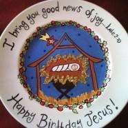 Happy Birthday Jesus Plate