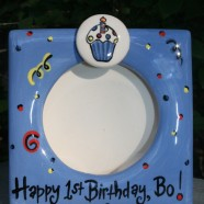Boy's First Birthday Frame