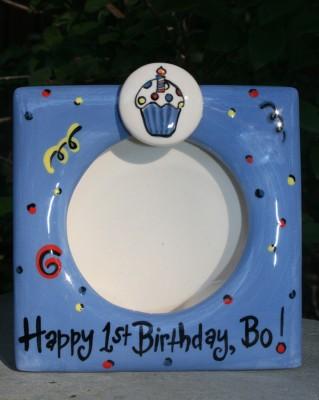 Boy's First Birthday Frame
