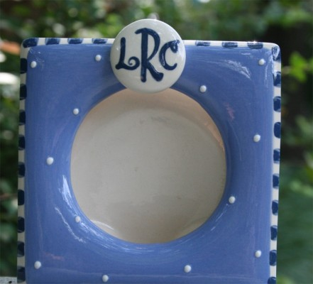 Monogrammed Frame for Boys