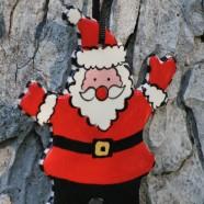 Santa Flat Ornament