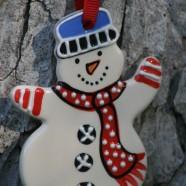 Snowman Flat Ornament