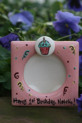 Girl's First Birthday Frame