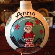 Santa Snow Globe Ornament